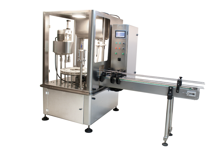 Automatic Two Nozzle Liquid Filling Capping Machine